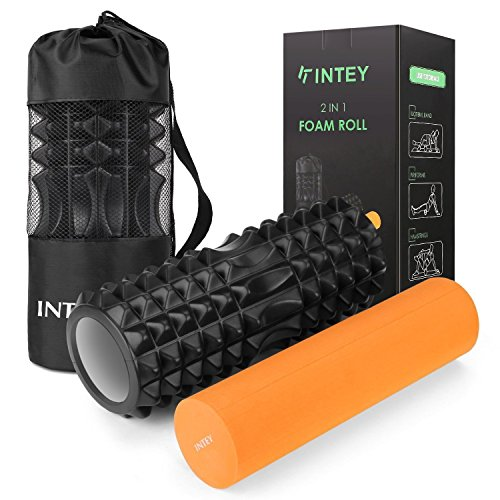 INTEY Foam Roller Rouleau Massage Kit de 2 en Mousse...