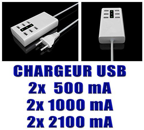 Plastique 36 (Kalea Informatique Ladestation USB 6Ports–Leistung des Ladegerät: 36W–bis zu 2.1A Pro Port–Belastung 6Geräte gleichzeitig.)