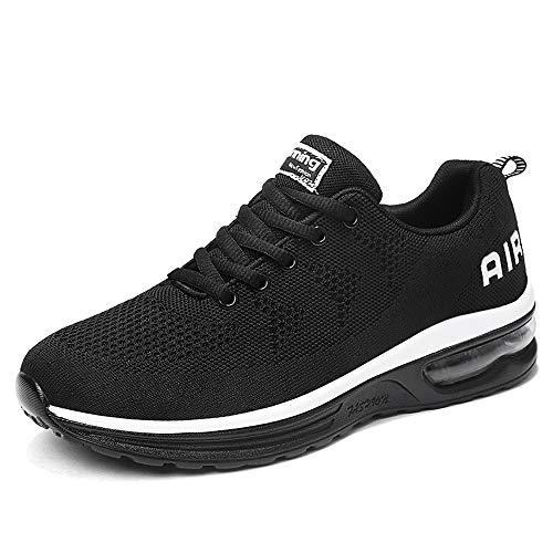 EUZeo Leichter Leichtathletik Laufschuh für Herren Atmungsaktive Sport Fitness Jogging Casual Outdoor Mode Turnschuhe Schnürer Sportschuhe Sneaker Luftkissenschuhe Straßenlaufschuhe (Für Jungen Schuhe Nike-dusche)