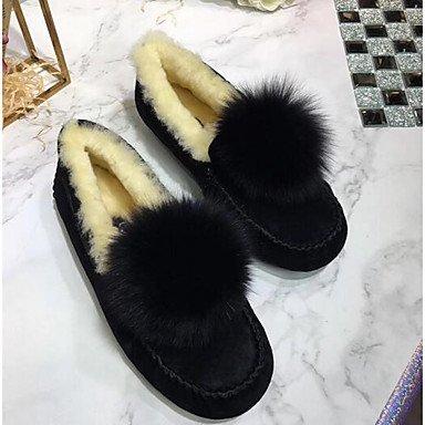 Wuyulunbi@ Scarpe Donna Autunno Inverno mocassino Comfort Appartamenti Per Casual marrone chiaro rosa rosso grigio blu scuro US8 / EU39 / UK6 / CN39