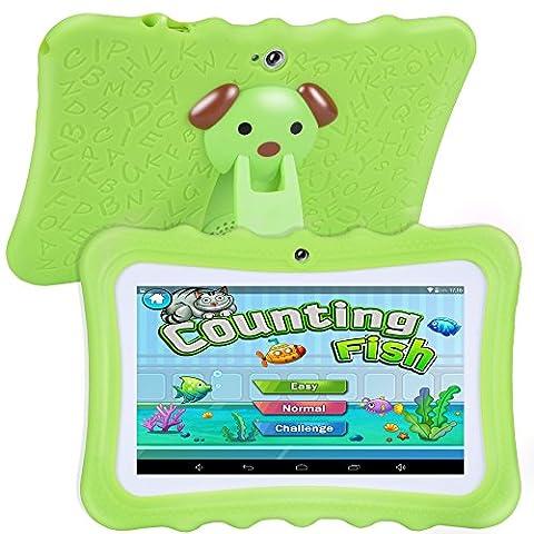 Tufen 7 Pouces Enfant Tablette Tactile IPS HD 1024*600 Caméra, Iwawa logicielé avec étui(Wifi, Youtube)