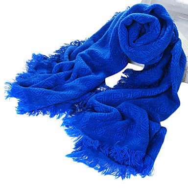 OdoorRose Motif fibre acrylique bleu royal chaud Écharpe à