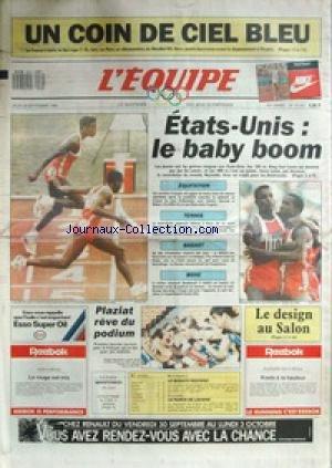 EQUIPE (L') [No 13187] du 29/09/1988 - LA FRANCE A BATTU LA NORVEGE - FOOT - AUX J.O. DE SEOUL - ETATS-UNIS - EQUITATION - TENNIS - BASKET - BOXE - PLAZIAT - AUTO - LE BUGATTI - CYCLISME - LAVAINE.
