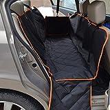Autotipps Hundedecke Auto, hundedecke Rücksitz/Kofferraum Schutz Rückbank Auto hundedecke mit Hund-Sicherheitsgurt Schwarz