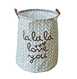 Best BAMBOO dryers - EchoFun Cotton Foldable Print Laundry Hamper Large Basket Review