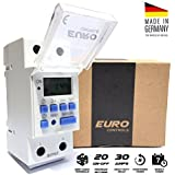 Euro Din Type Digital Timer Controller- Made in Germany-Programmable for Daily/Weekly- DIN Rail Mounting