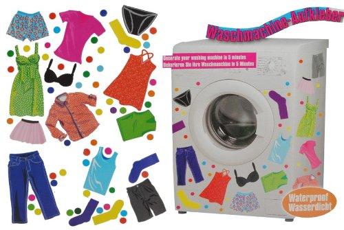 Unbekannt Aufkleber z.B. für Maschmaschine wasserfest - 70 Bekleidung Punkte - Sticker Tattoo Waschmaschinen