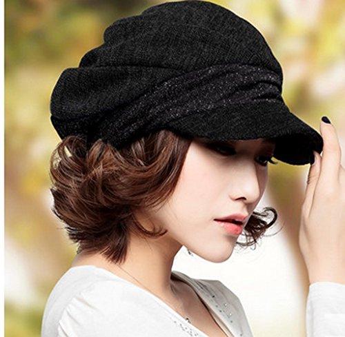 Chapeau Femme Automne et Hiver Version Coréenne Marée Bérets Mode Hiver Femme Cap octogonal Hat Angleterre Painter Hat Bud Cap ( couleur : 1# ) 7#