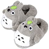 LaiXin Schuhehasus Kinder Schuhe, Hausschuhe Weiche Slipper Plüsch Hausschuhe Totoro Größe:35-44(Grau)