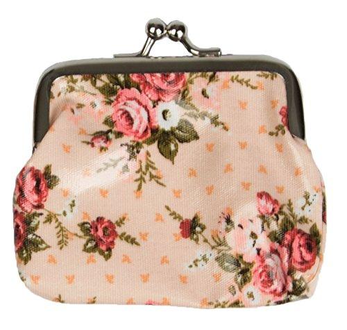 Miss Pretty London Fleurs roses Imprimé femmes Porte-monnaie