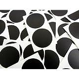 Minilabel - Puntos adhesivos (50 unidades, diámetro 50 mm), color negro y blanco