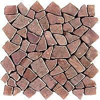 Mosaikfliesen Fliesen Mosaik K/üche Bad WC Wohnbereich Fliesenspiegel Kiesel geschnitten Naturstein 9mm #427