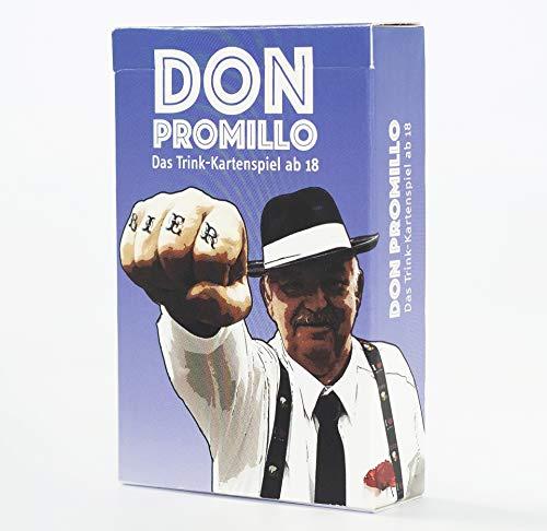 Town Rocket Games Don Promillo - Das Trink-Kartenspiel - Perfekt zum Vortrinken, Jungesellenabschied oder für den Männerabend - Trinkspiel - Saufspiel - Partyspiel