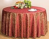 WCP XCF Tischdecke, Chemische Faser, Hotel Restaurant Bankett Hochzeit Runden Tisch Tischtuch,A,Durchmesser: 16