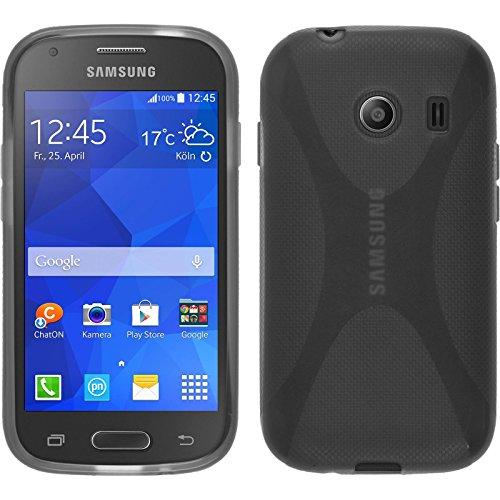 PhoneNatic Custodia Compatibile con Samsung Galaxy Ace Style Cover Grigio X-Style Galaxy Ace Style in Silicone + Pellicola Protettiva