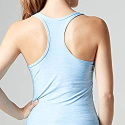 mypr otein Mujer Women 's Performance Eslogan Vest Tirantes, Todo el año, Mujer, Color Azul Claro, tamaño 6 UK