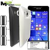 Mugen Power @ 6200mAh batería de larga duración para la ventana de Microsoft Lumia 950 w / cubierta posterior (negro Black)