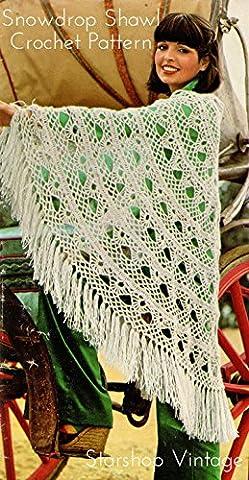 Snowdrop Shawl: Vintage 1970s Crochet Pattern