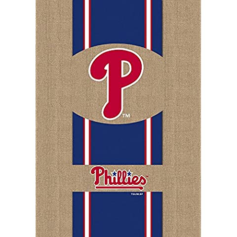 Evergreen Burlap Philadelphia Phillies giardino Bandiera, 12,5 da 18 pollici - Pennsylvania Bank
