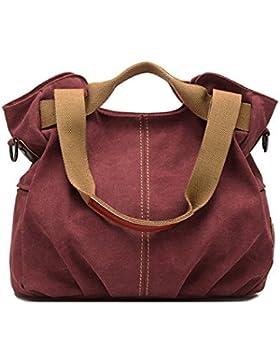Aisi Damen Handtasche / Umängetasche / Schultertasche / Handgelenkstasche / Henkeltasche / Canvas-Tasche