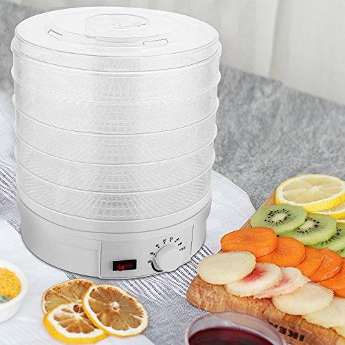 Ncient Dörrautomat mit Temperaturregler (von 35 bis 70 Grad, 350W) 5 abnehmbare Etagen, Dörrgerät Dörrapparat Obsttrockner Dehydrator für Lebensmittel