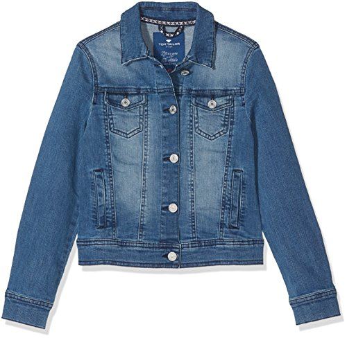 TOM TAILOR Kids Mädchen Jacke jacket 35335340040, Gr. 164, Blau (Light Stone Blue Denim 1097)