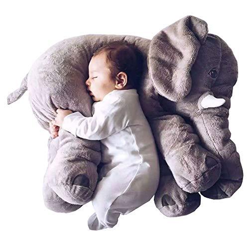 smartpillow XXL Elefant Kuscheltier I 60cm Plüschtier Groß Grau Geschenk für Baby Kinder - Oktopus Baby Kostüm