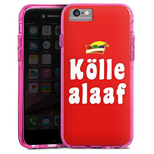 Apple iPhone X Bumper Hülle Bumper Case Glitzer Hülle Cologne Karneval Fasching Bumper Case transparent pink