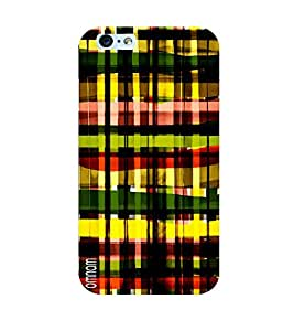 Omnam Check Pattern Of Different Color Printed Back Cover Case For Apple iPhone Plus