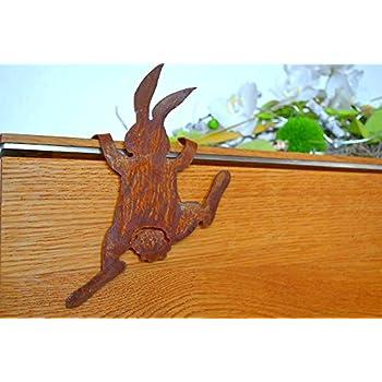 Osterdekoration osterhasen deko rost edelrost metall for Gartendekoration landhausstil