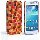 Caseflex Samsung Galaxy S4 Mini Hülle Rot / Orange Geometrisch Dreiecke Muster Hart Schutzhülle