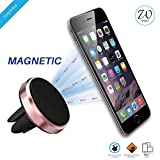 #10: West7™ JUST LAUNCHED 2017 Multi Colour Magnetic Mobile Phone Holder For Car Ac Vent | Car Mobile Stand Mount with 360° rotation. (Rose Gold)
