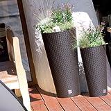 Unbekannt Vaso di Fiori Vaso Vaso pianta Rivestimento dell'alloggiamento DRTUS Superficie Rotonda Rattan incl. 27 Litri