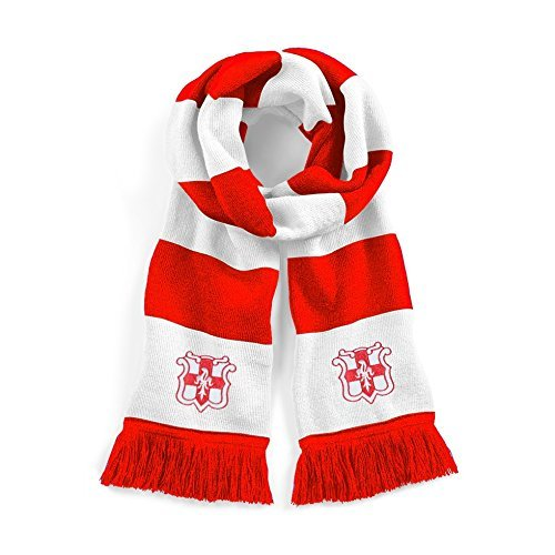 Retro Lincoln City Red/White Football Scarf Embroidered Logo