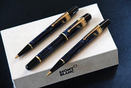 Montblanc Writers Edition 1998 E. A. Poe Set: Füller + Kugelschreiber + Bleistift