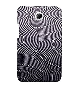 PrintVisa Spiral Art Pattern 3D Hard Polycarbonate Designer Back Case Cover for Lenovo K880