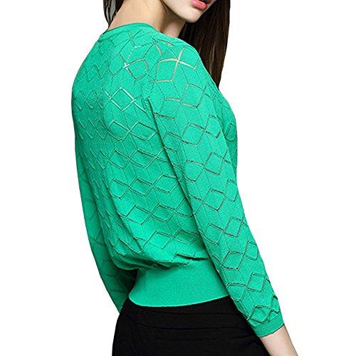 DISSA VD1620218 femme Gilet Manches longues Tricot Vert