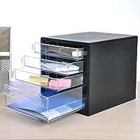Met Love Gabinete de Archivo de la Oficina Caja de Almacenamiento de plástico Gabinete de Archivo de la Cabina de Datos Transparente de 4 Capas