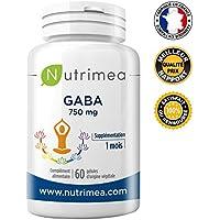 ☯ GABA NUTRIMEA ☯ Efficace pour traiter l'anxiété - favorise le sommeil 750 mg/jour ▪️ FABRICATION FRANÇAISE ▪️ SATISFAIT OU REMBOURSE ▪️ 60 gélules végétales