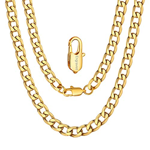 ChainsPro Herrenkette Männer Kette Halskette Poliert Gold Silber Silbergrau Weizenkette Herrschsüchtig Rau Punk Rock für Herren Männer