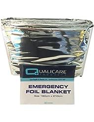 6mantas térmicas de QUALICARE, lámina plateada, para emergencias