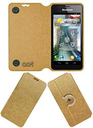 Acm Designer Rotating Flip Flap Case for Lenovo P770 Mobile Stand Cover Golden  available at amazon for Rs.399