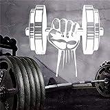 Modeganqingg Hand Fitness Gym Gewichtheben Hantel Vinyl Wandaufkleber Vinyl Aufkleber Schlafzimmer...