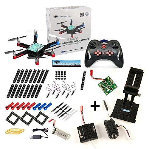 DROHNENSTORE24.DE ...DER DROHNEN-GURU DS24 Baustein Hexacopter + FPV Set + DS24 Tasche L - Brick Drohne zum Selbstbauen mit FPV Kamera - Bausatz für Groß und Klein