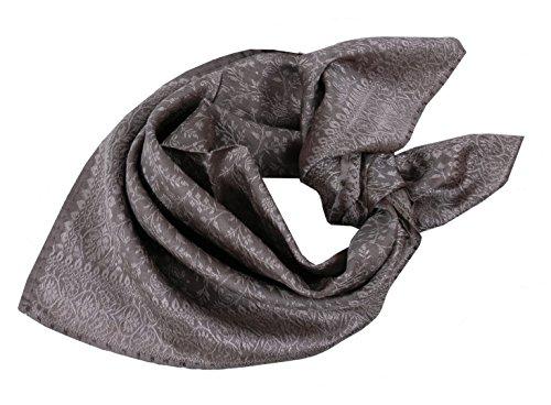 Trachtentuch Halstuch Trachten Damen/Herren- fesches Trachtenhalstuch 100% Seide - Braun-Beige