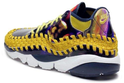 Nike Air Footscape Woven Chukka YOTH QS Scarpe da ginnastica scarpe da ginnastica 649790 light midnight bright citron 400