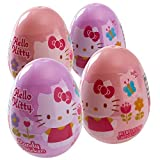 #7: Hello Kitty Surprise Easter Eggs Filled With Hello Kitty Stickers And Candy (4 Pack)