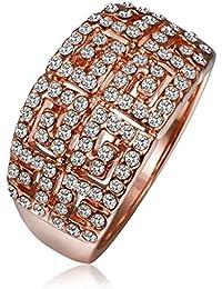 AMDXD Schmuck Rosegold Vergoldet Damen Ringe (Eheringe) Voll Von Gr.57 (18.1)