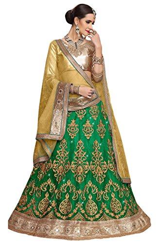 Perfect Resource Net Green Color Lehenga Choli