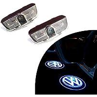 buy-buy-buy Luces LED para Puerta de Coche, Diseño con Logotipo de la Marca Okswagen, Fácil Instalación, bajo Consumo, 2 Unidades